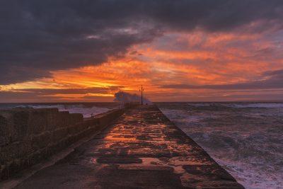 Porthleven sunset colours 1000px